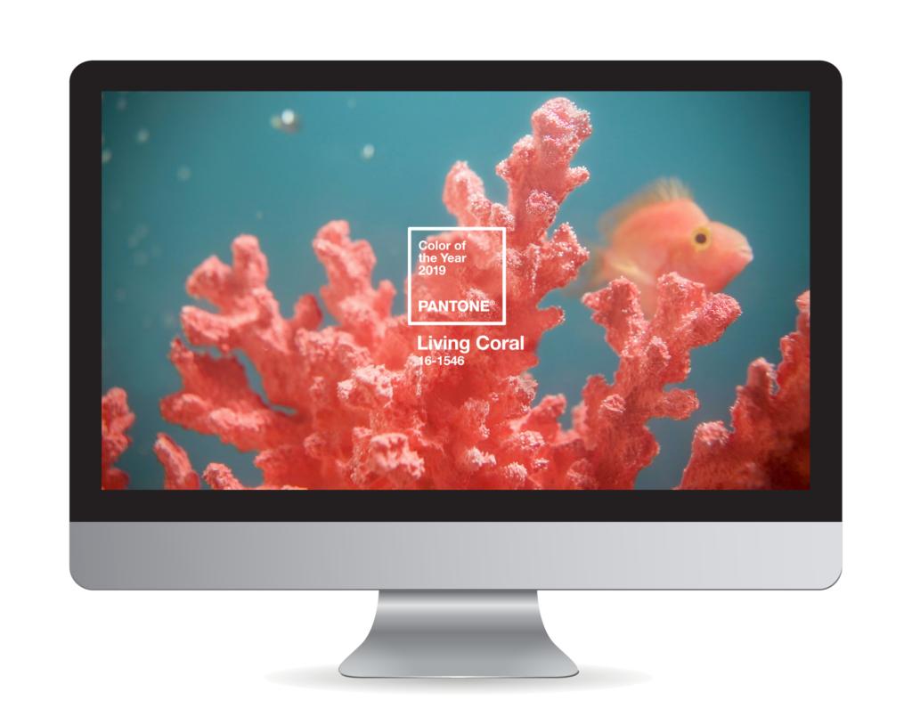 Living Coral Desktop Background