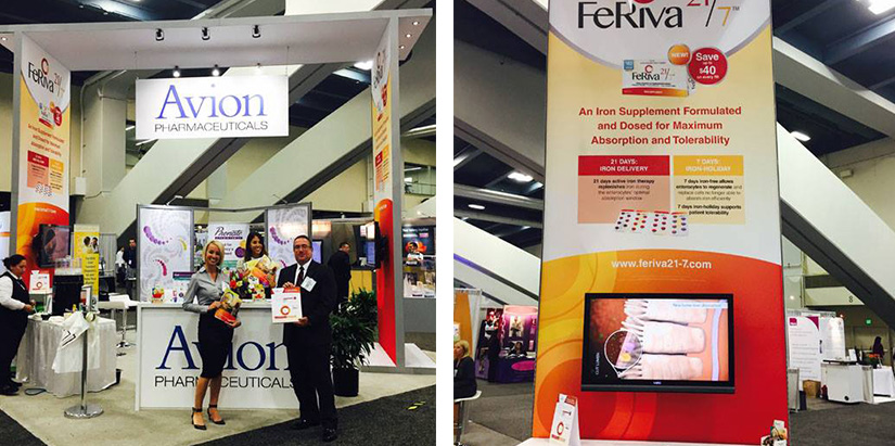 Avion Pharmaceuticals Trade Show Booth