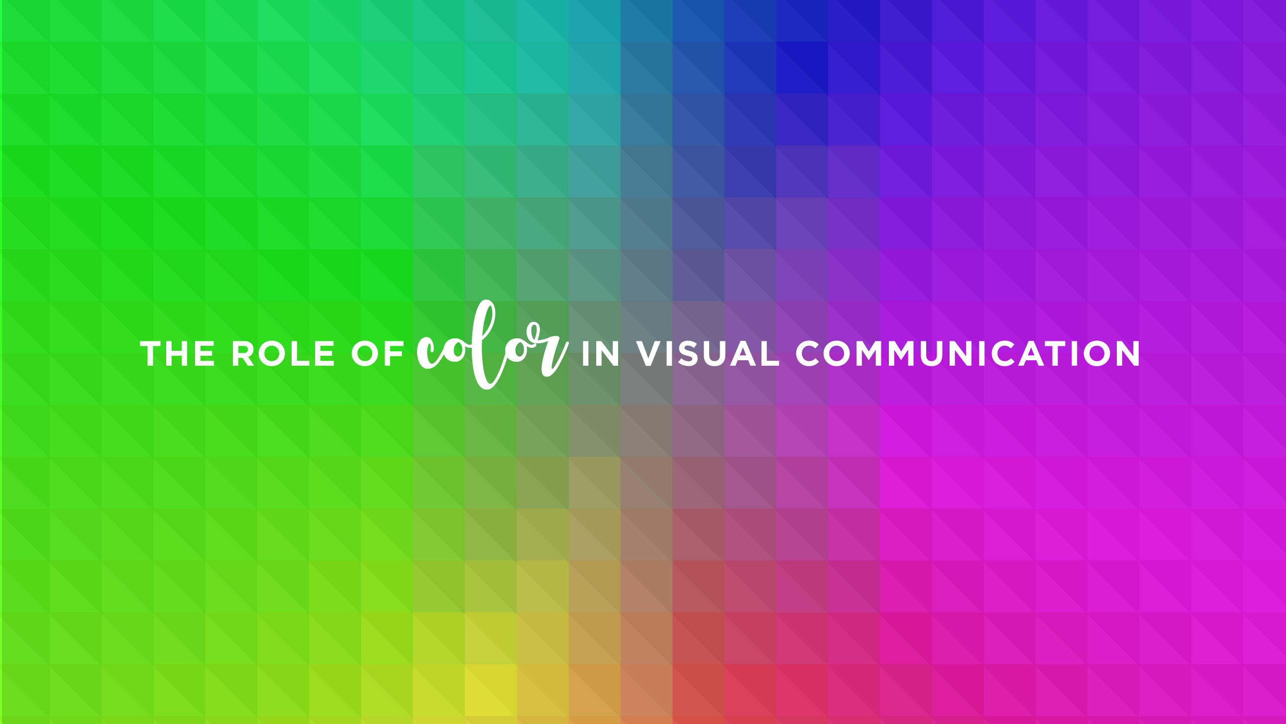 Role of Color in Visual Communication